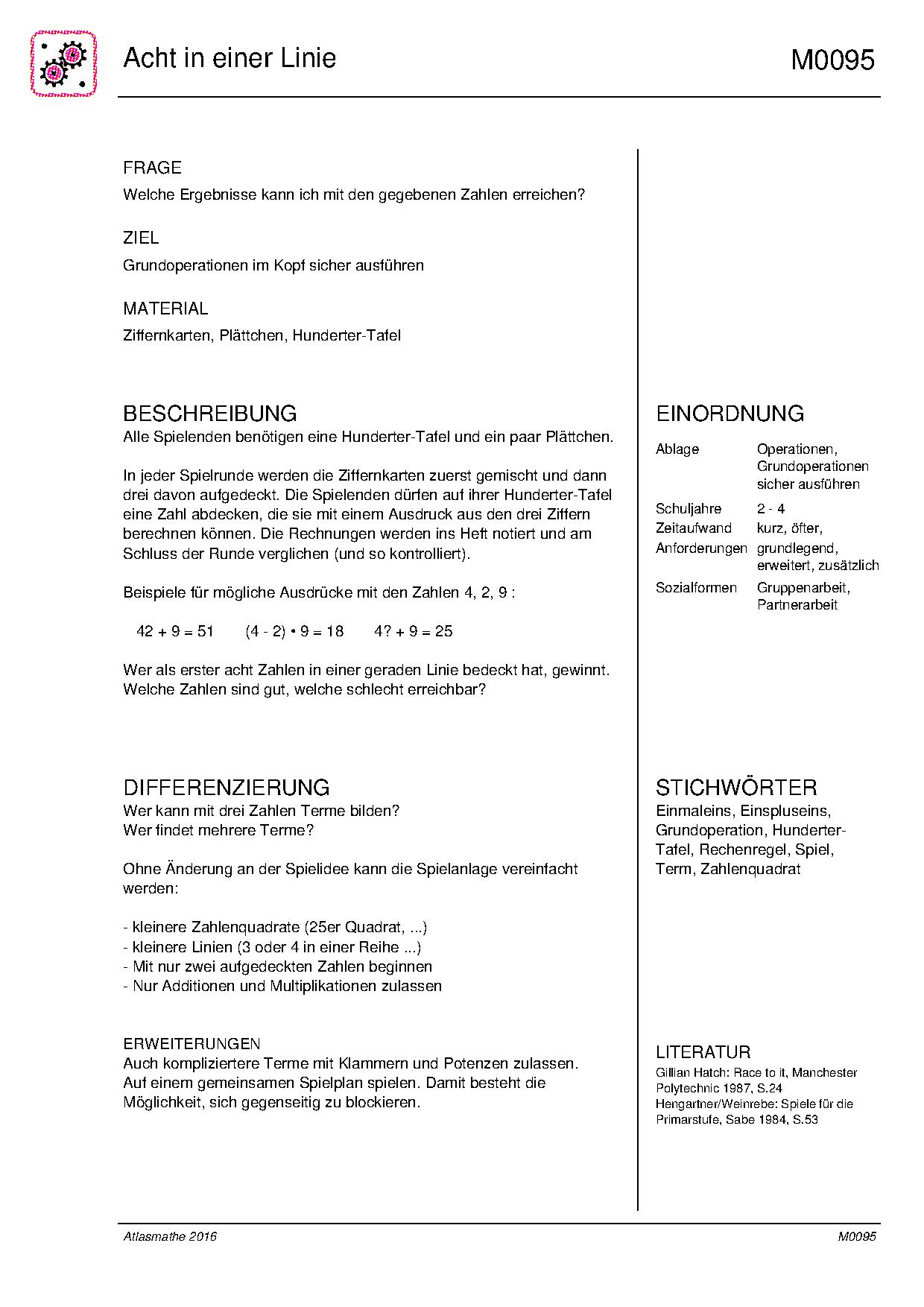 Division Arbeitsblätter